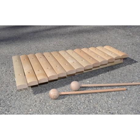 Xylophone un jeu de musique en bois de percussion faciles for Construction xylophone bois