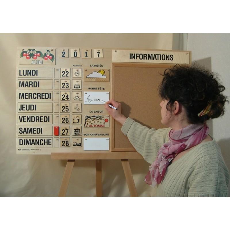 magnifique calendrier perp tuel tout en bois fabrication fran aise bec et croc. Black Bedroom Furniture Sets. Home Design Ideas