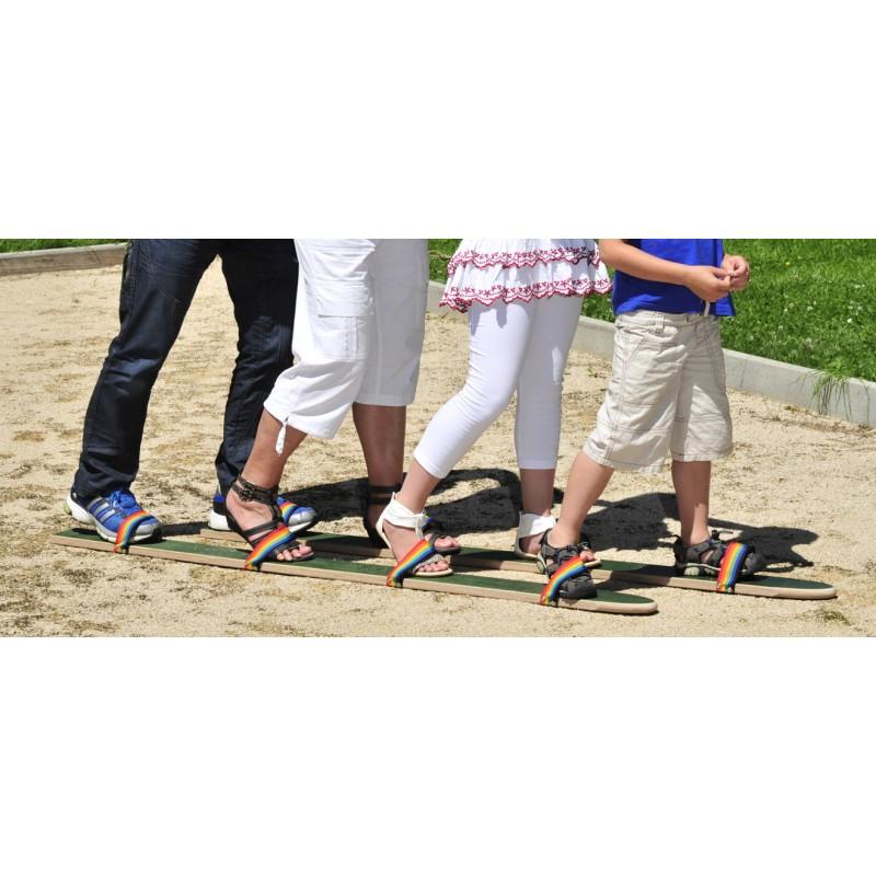 Skis de motricit 4 joueurs jeu pour enfants et adultes - Jeu en bois adulte ...