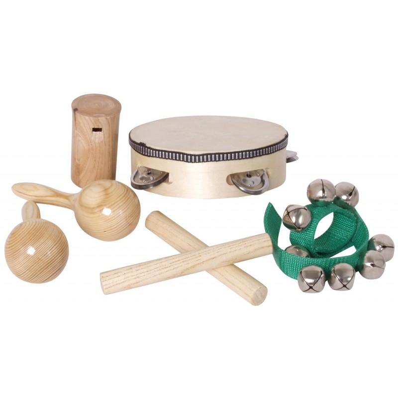 Lot de 8 instruments de musique en bois faciles utiliser for Instruments de musique dax