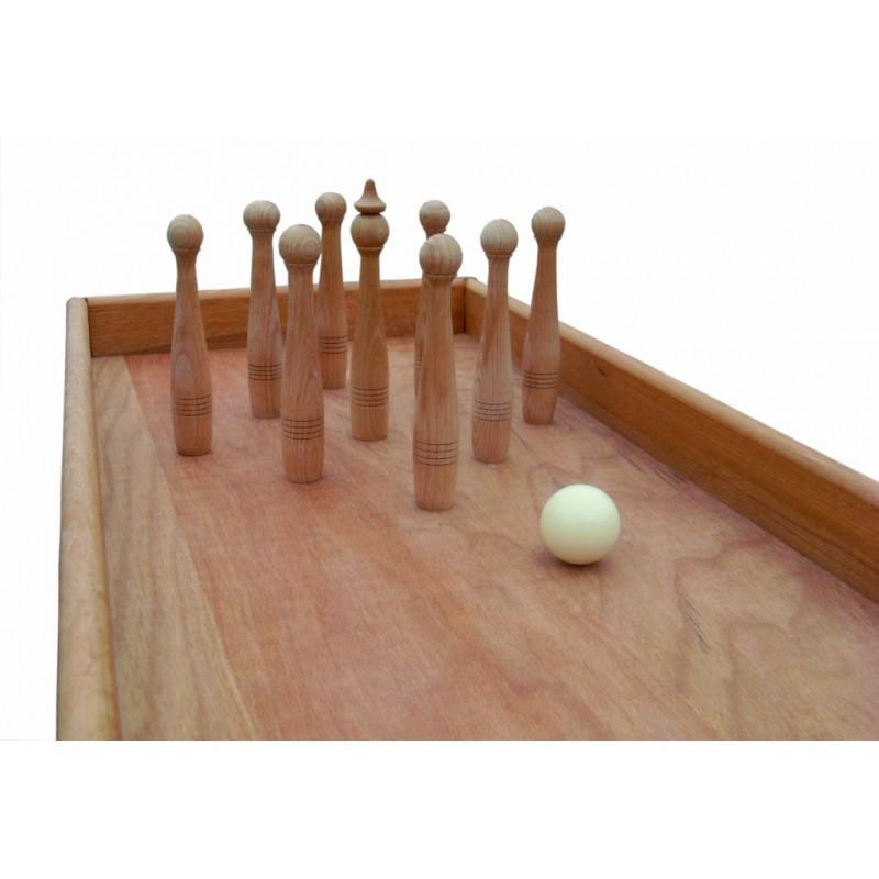jeu billard bowling en bois jeu g ant d 39 adresse original pour enfants et personnes ag es avec. Black Bedroom Furniture Sets. Home Design Ideas