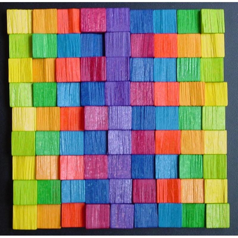Grande mosa que tableau magn tique avec pi ces en bois for Tableau magnetique pour photos