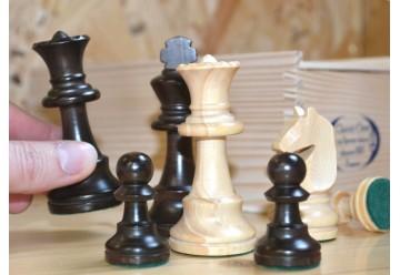 Pions en bois pour jeu d'échecs