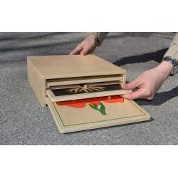 Pack de 3 puzzles botaniques avec boite