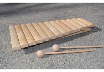 Xylophone en bois brut
