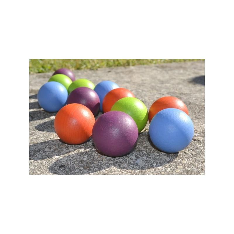 kit boules 4 couleurs en bois pour jeu de roule boules ou billard japonais sav des pi ces du. Black Bedroom Furniture Sets. Home Design Ideas