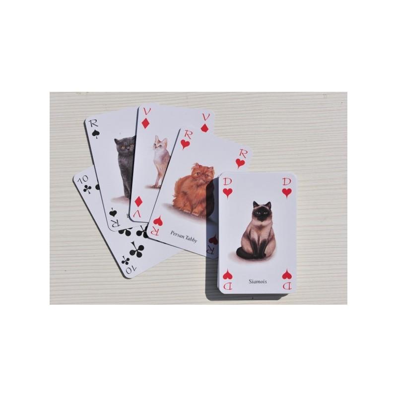 jeux de 54 cartes sur le th me des chats taille classique des cartes et magnifiques. Black Bedroom Furniture Sets. Home Design Ideas