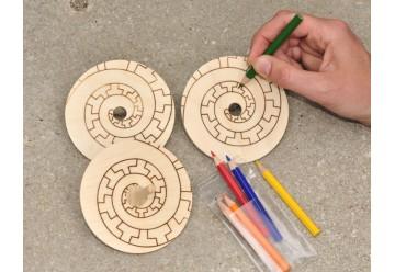 Créative toupies en bois