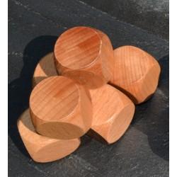 Lot de 6 dés en bois géants à personnaliser