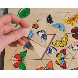 L'hexagone des papillons puzzle en bois
