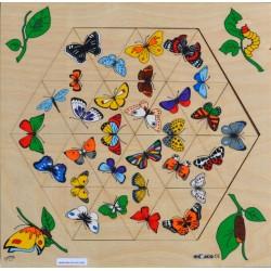 Hexagone des papillons puzzle
