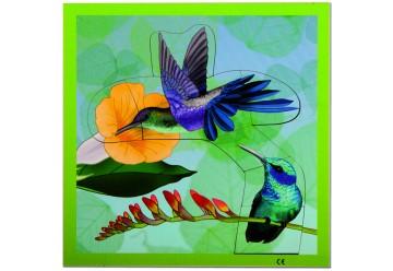 Puzzle oiseaux en bois
