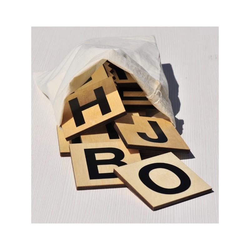 100 lettres bois xxl 10 x 10 cm tr s lisibles jeu de mots en groupes. Black Bedroom Furniture Sets. Home Design Ideas