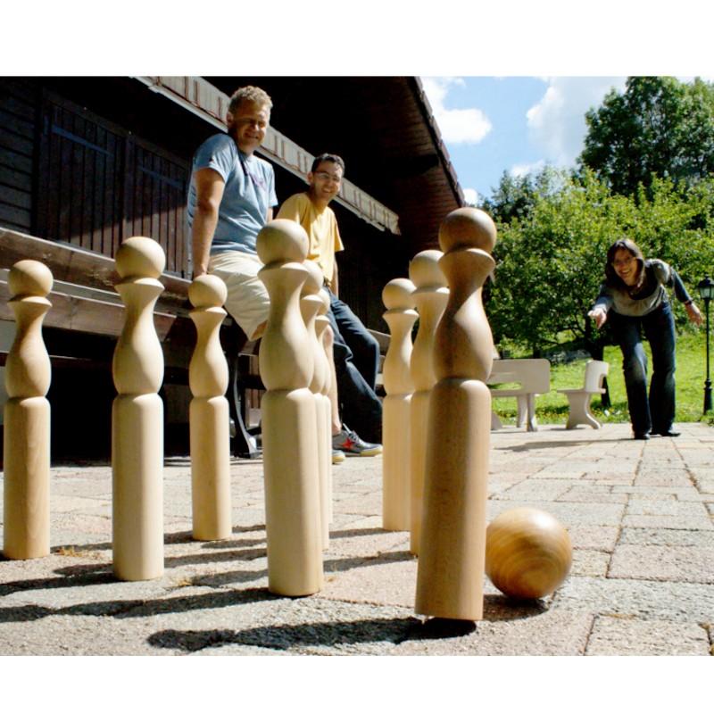 quilles géantes en bois de 42 cm - achat atelier bec et croc en france
