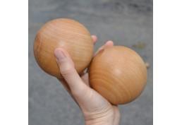 Lot de 2 boules en bois diam 9.5cm