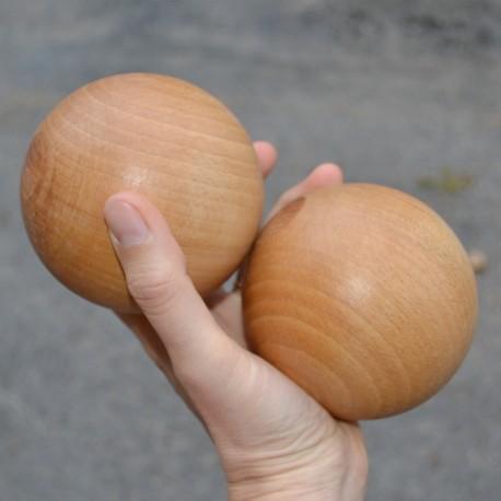 Lot 2 boules diam 95 mm