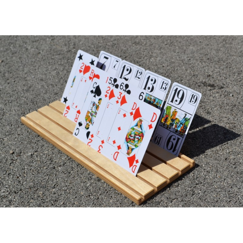 porte carte à jouer Support de cartes à jouer en bois. Fabrication France