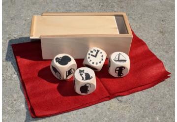 Cubes des histoires Jeu dés bois