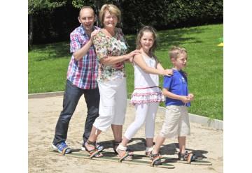 Skis de coordination en bois 2 personnes