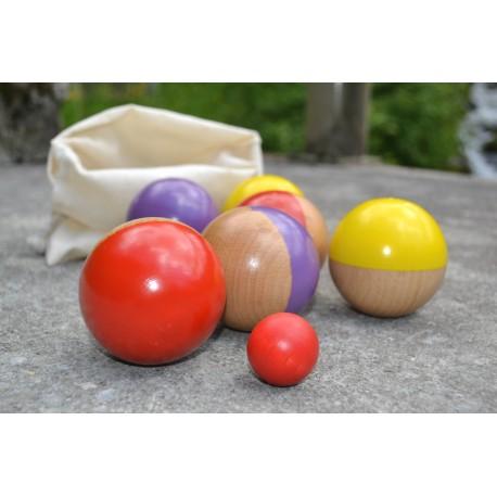 Pétanque sac de 6 boules new