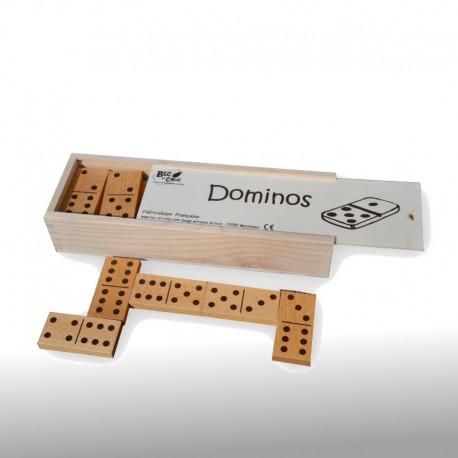 Dominos classiques bois (coffret brut)