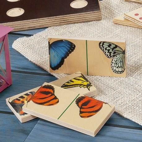 Grands Dominos papillons bois (10 cm)