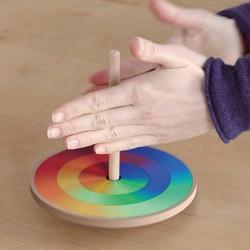 Toupie mosaïque couleurs (16 cm)