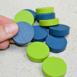 Lot 12 palets (3cm) verts et bleus