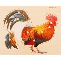 Puzzle Coq en bois
