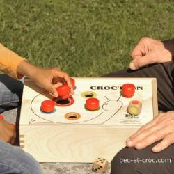 Croc'Pion jeu convivial en bois