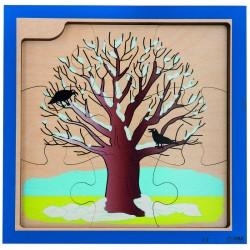 Puzzles 4 saisons en bois