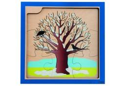 Puzzle 4 saisons en bois