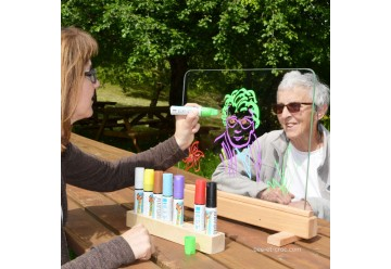 Fenêtre du Peintre - jeu de peinture sur verre