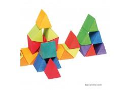 Octagon mosaïque den bois