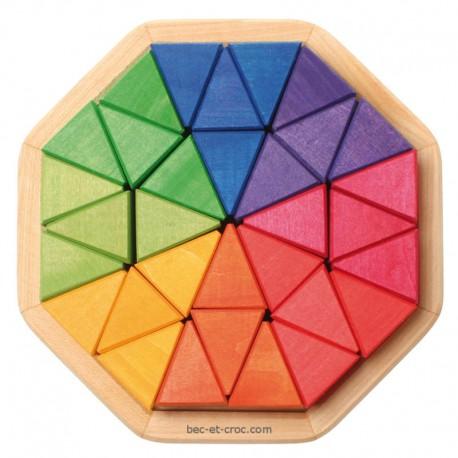 Octagon mosaïque en bois