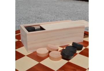 Pions jeu de Dames Maxi en bois
