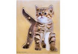 Puzzle chaton en bois