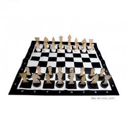 maxi jeu d'échecs tissu (90 x 90 cm)