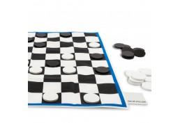Maxi jeu de dames tissu (85 x 85 cm)