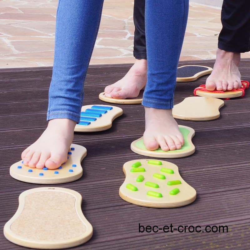 Parcours sensoriel pieds