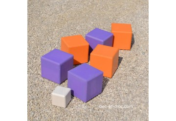 Pétanque carrée violet - orange