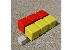 Pétanque carrée rouge - jaune