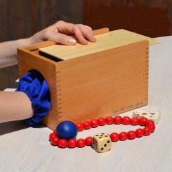 Boîte à l'aveugle en bois