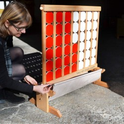 4 en ligne XXL : récupérateur de pions tiges acier