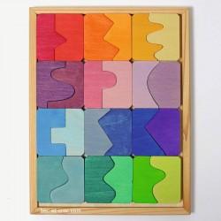 Puzzle concave - convexe en bois