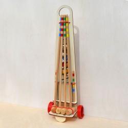Croquet chariot adulte en bois 4 joueurs