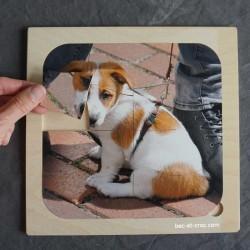 Puzzle chien Tomy en bois