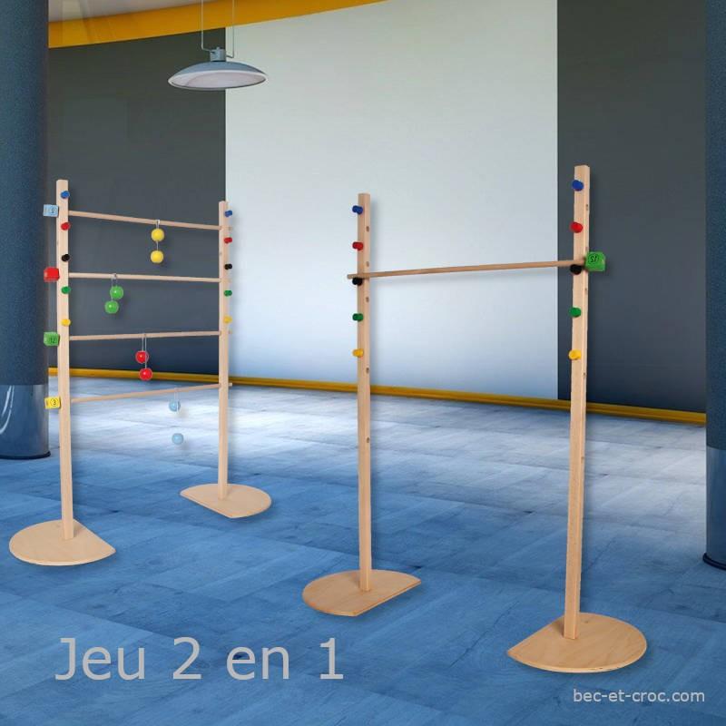 Limbo Tac en bois (2 jeux en 1)