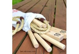 Lancer d'anneau tout en bois, pratique avec son sac de rangement