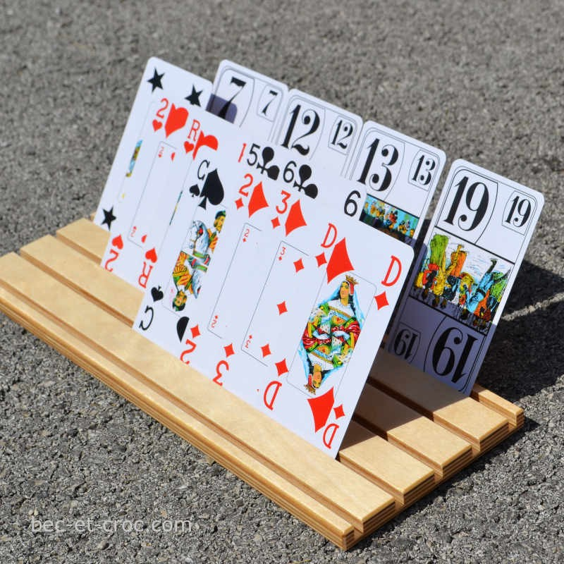 Support de cartes à jouer, pour tous les jeux de cartes. Fabrication France